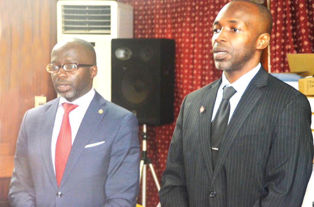Le président de la FECAJUDO à gauche et le SG à droite de l'image